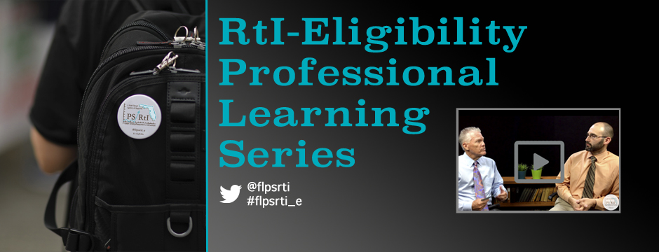 RtI-E Professional Learning Series